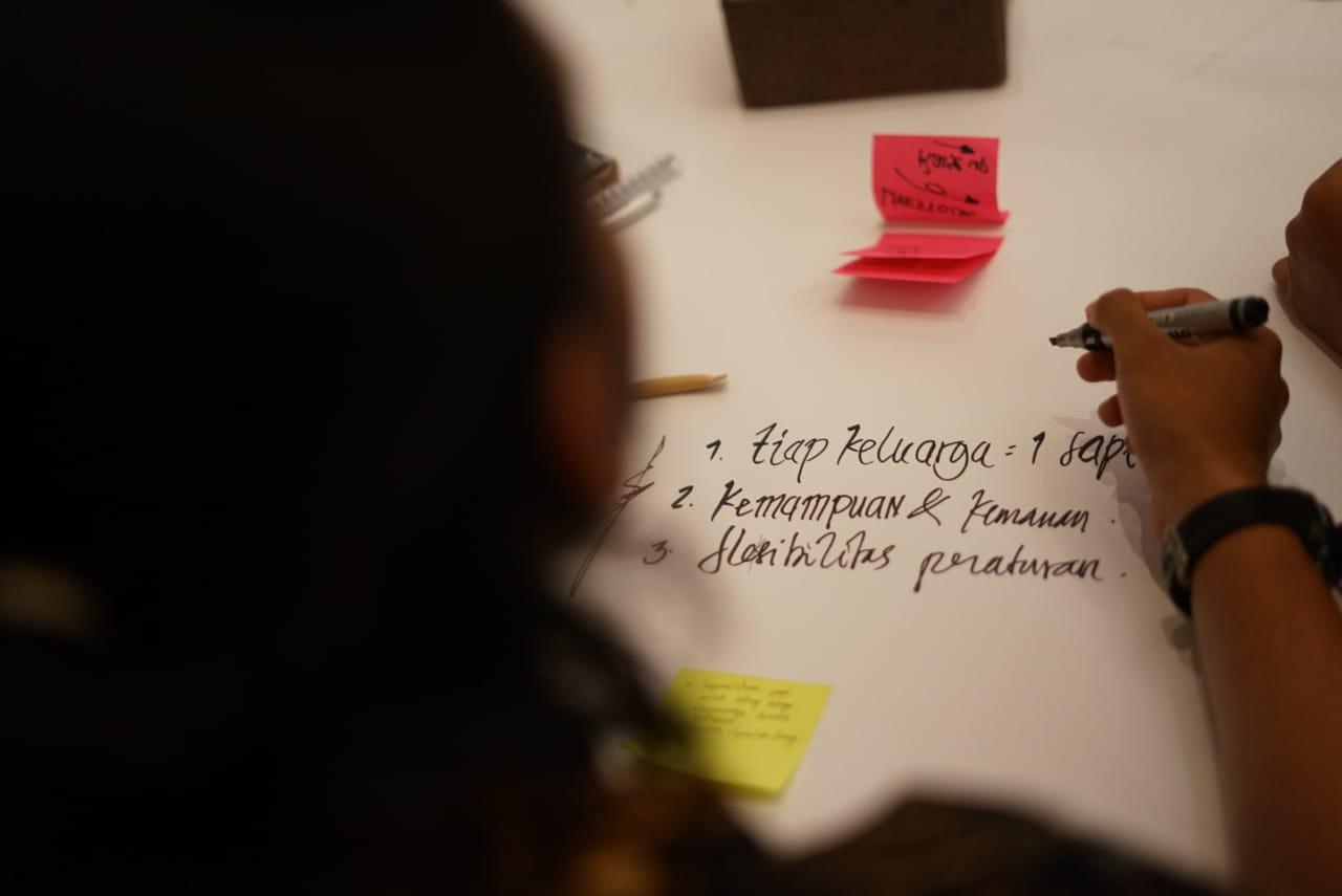 Para peserta dalam workshop design thinking.